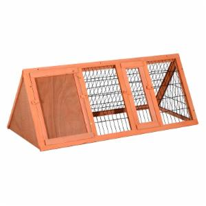 Pawhut Wooden A-Frame Small Animal Hutch