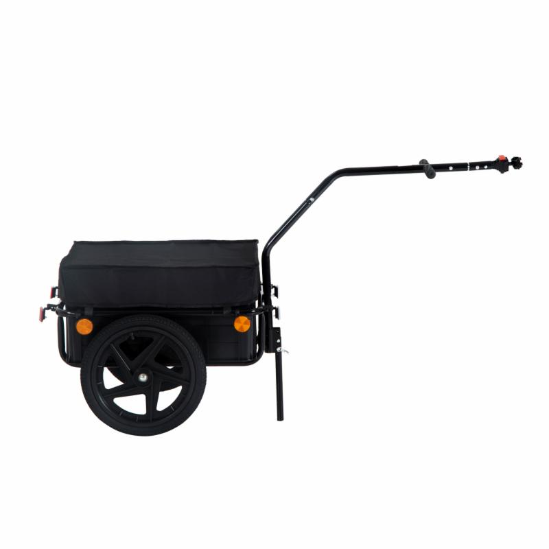 Aosom Double Wheel Internal Frame Enclosed Bicycle Cargo Trailer - B71-005