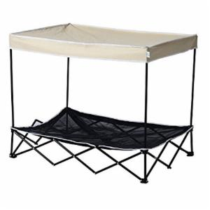 Pawhut 40 in. Elevated Mesh Canopy Pet Bed