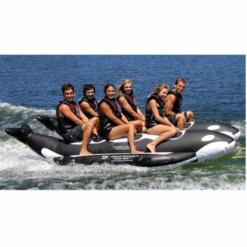 Whale Ride Commercial Side-To-Side Elite Class Killer Whale Banana Boat - 6 Person - PVC-6-WR-SBS