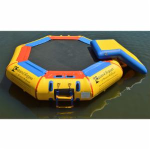 Island Hopper Bounce N Splash Padded Water Bouncer with Slide Attachment