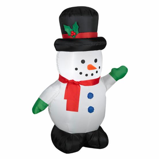 Gemmy Airblown Snowman with Holiday Top Hat Inflatable