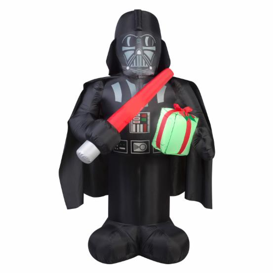Airblown Inflatables Darth Vader with Light Saber and Present Inflatable