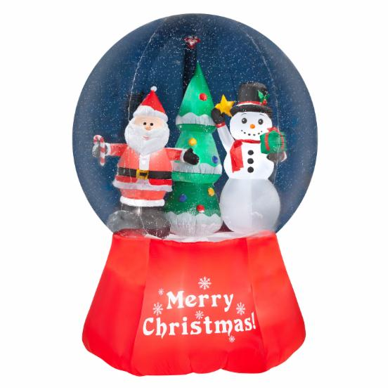 Airblown Inflatables Snow Globe Santa with Snowman Giant Inflatable