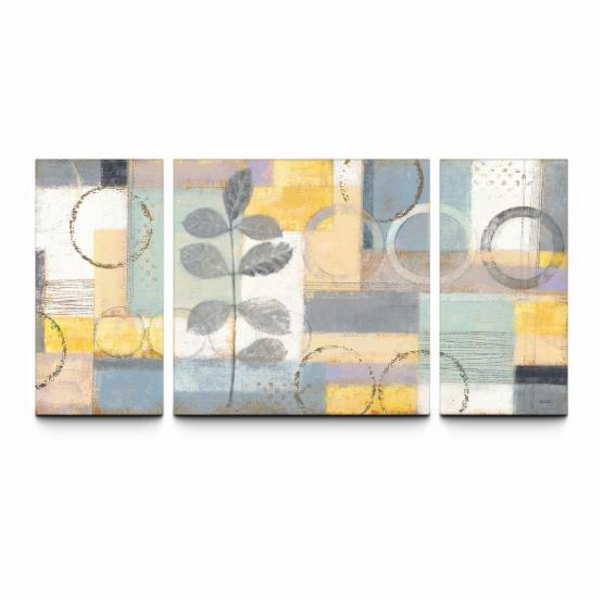 Sunlight In 30 x 60 Textured Canvas Print Triptych