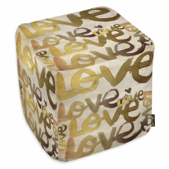 Oliver Gal Four Letter Word Pouf Ottoman