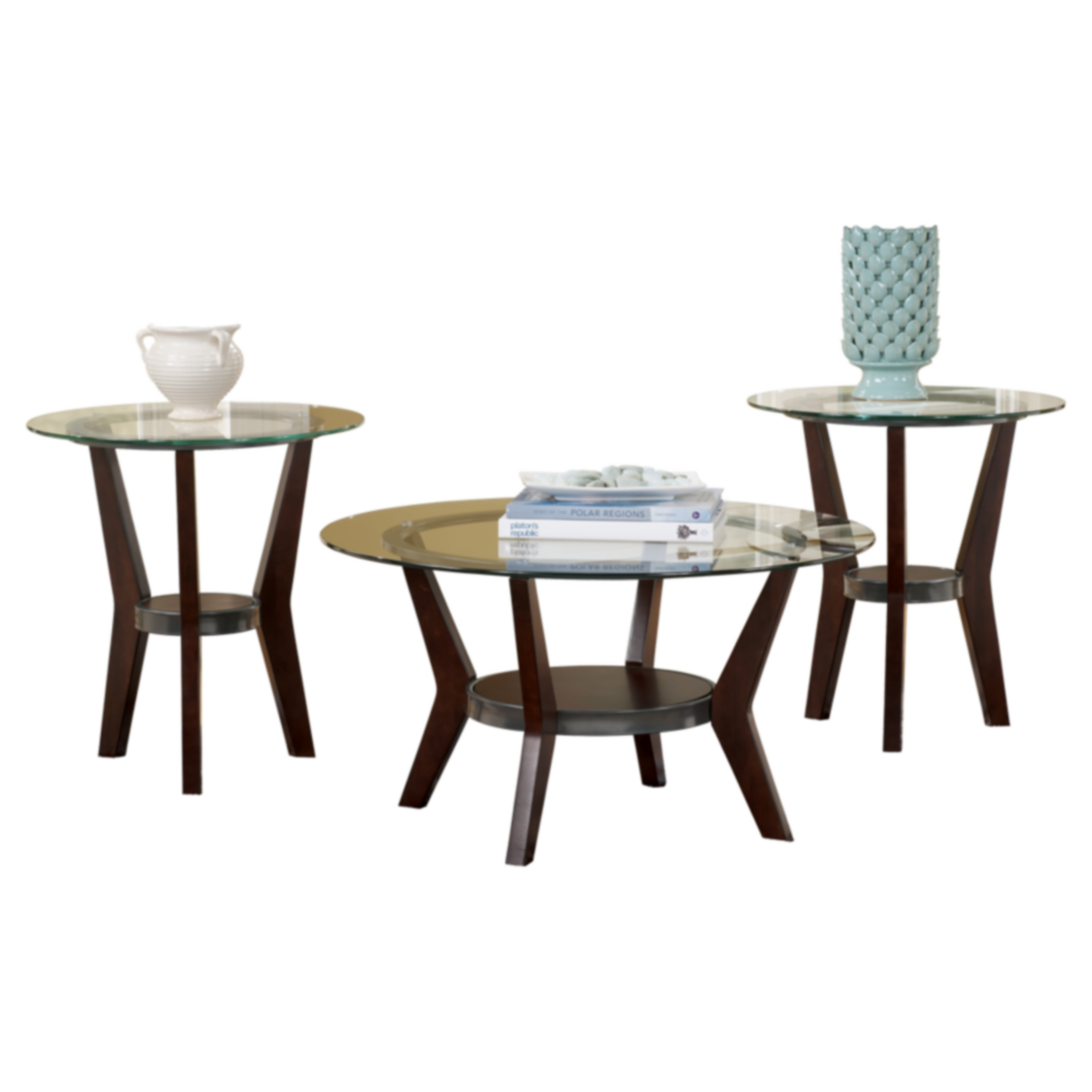 Steve Silver Emerson Rectangle Glass Top 3-Piece Coffee Table Set - Black | Hayneedle  sc 1 st  Hayneedle & Steve Silver Emerson Rectangle Glass Top 3-Piece Coffee Table Set ...