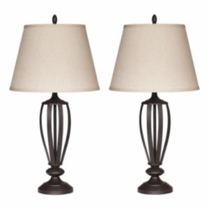 Craftsman mission style table lamps hayneedle signature design by ashley l201944 mildred table lamp set of 2 aloadofball Images