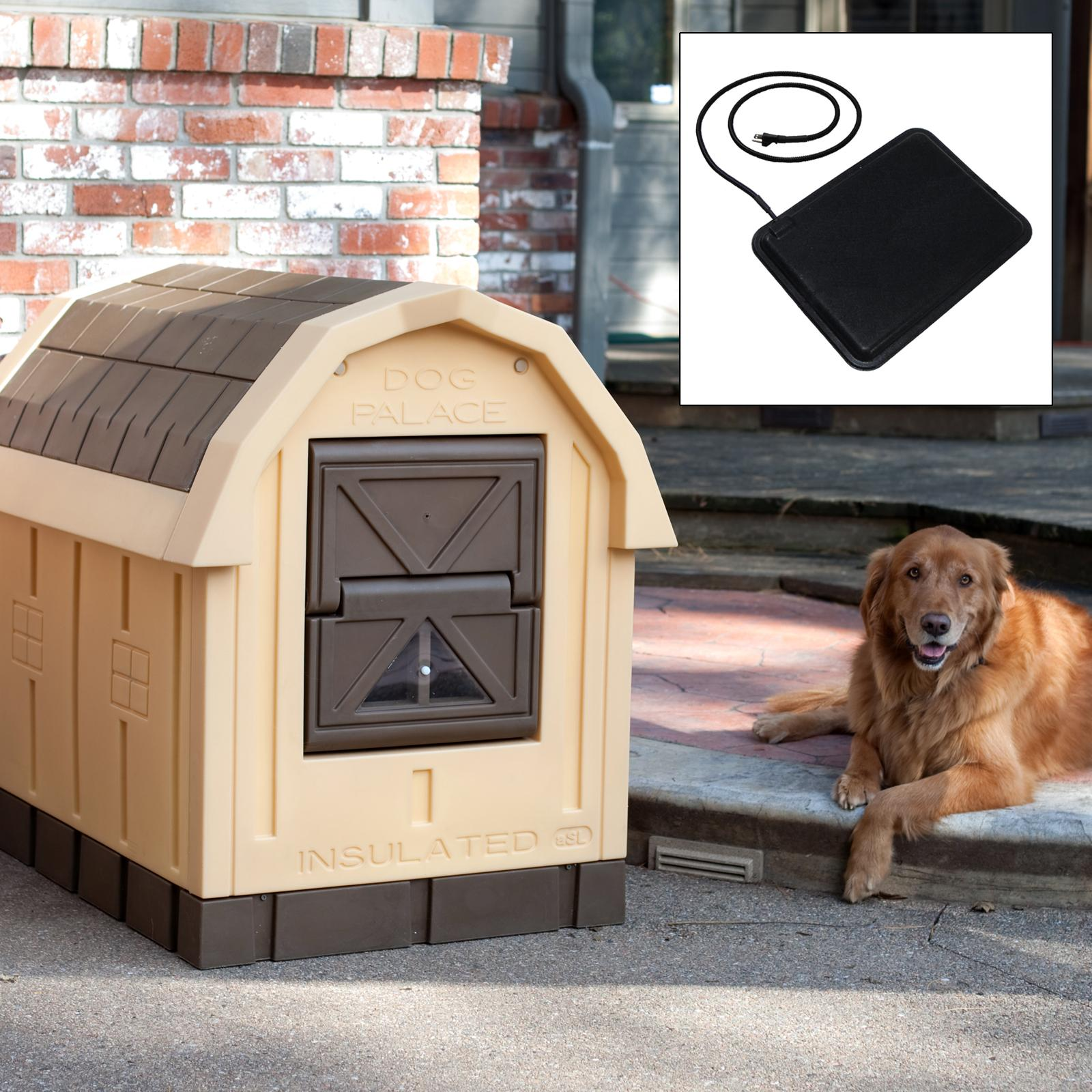 Asl Solution Dog Palace Dog House with Floor Heater - ASL...