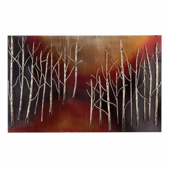 Aspire Home Accents Abstract Trees Metal Wall Plaque - 38W x 34H in.