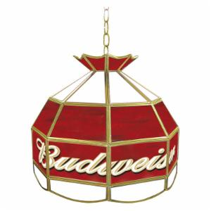 Trademark Budweiser Stained Glass 16 Inch Pool Table Light