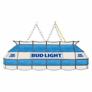 Trademark Bud Light Stained Glass 40 Inch Pool Table Light