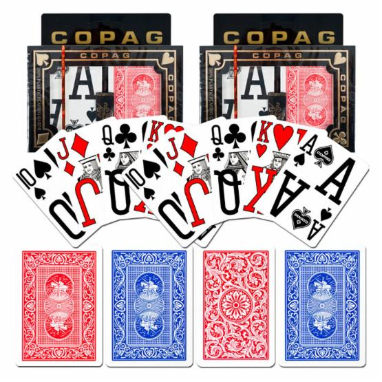 Copag Poker Size Magnum Index - Blue/Red Set of 2 Playing Cards