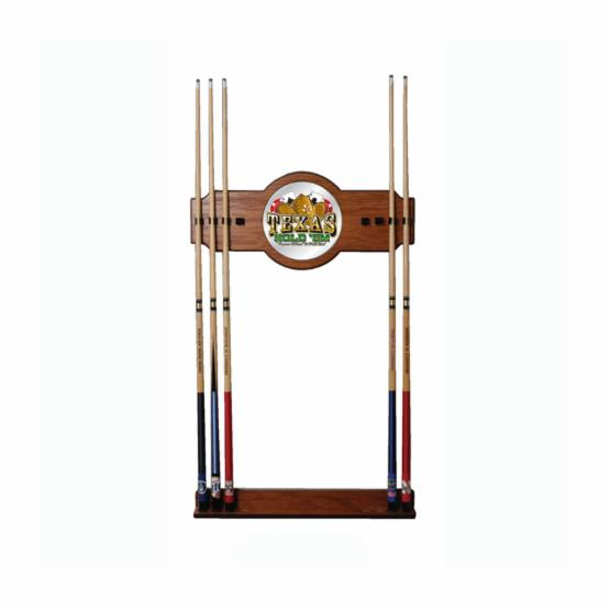 Texas Hold 'em Billiard Cue Rack with Mirror