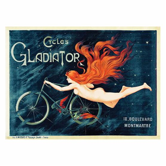 Cycles Gladiator by Georges Massias - 35W x 47H in.