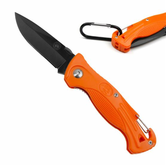 Field and Stream 25-FS4608OR 7.5 in. Orange Hiker Folding Knife with Whistle