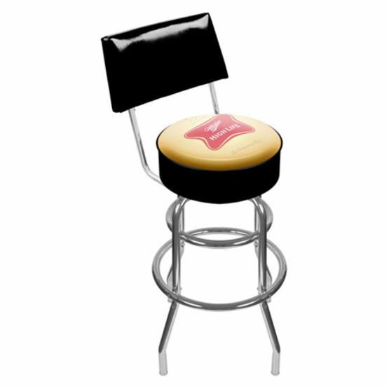 Trademark Miller High Life Padded Bar Stool with Back