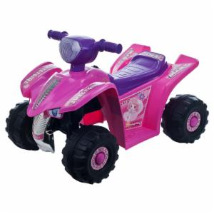 Lil Rider Pink Princess Mini Quad 4 Wheeler ATV Battery Powered Riding Toy