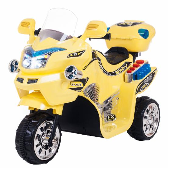 Lil Rider FX 3 Wheel Motorcycle Bike Battery Powered Riding Toy - Yellow