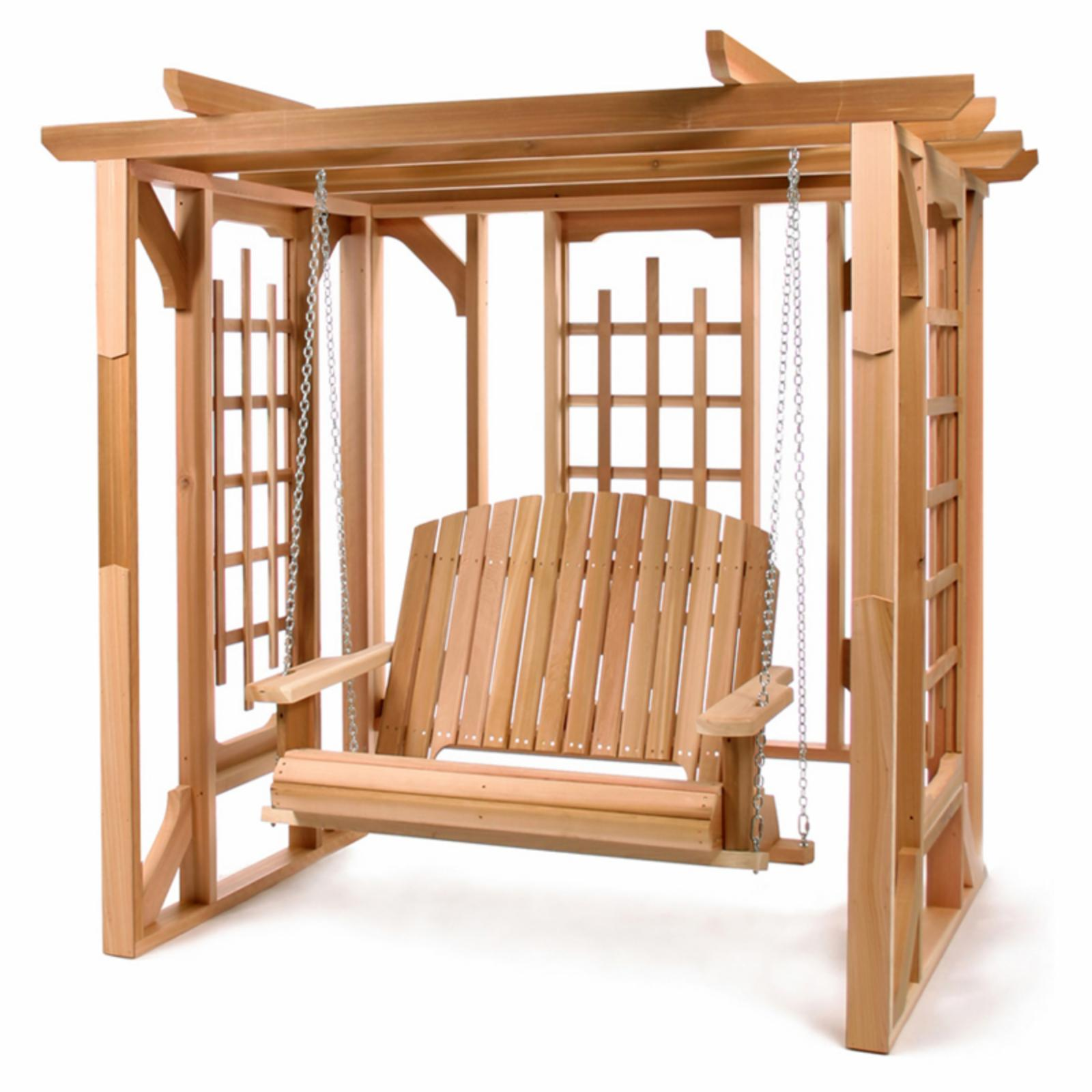 All Things Cedar Pergola with Swing - PO72-S
