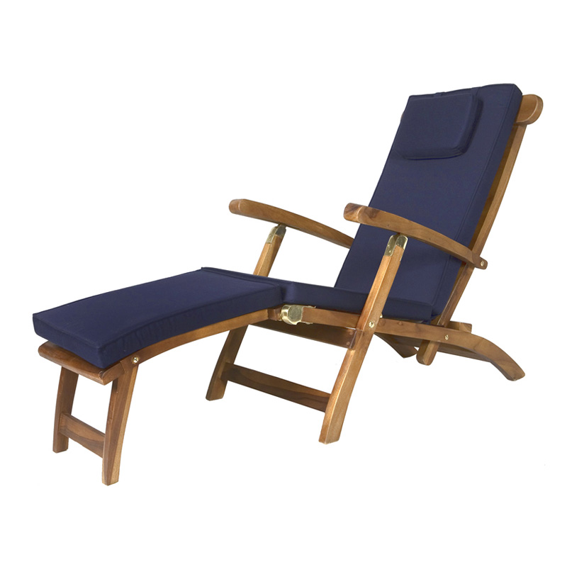 Royal Teak American Steamer Outdoor Chaise Lounge Cushion   74 X 17 In. |  Hayneedle
