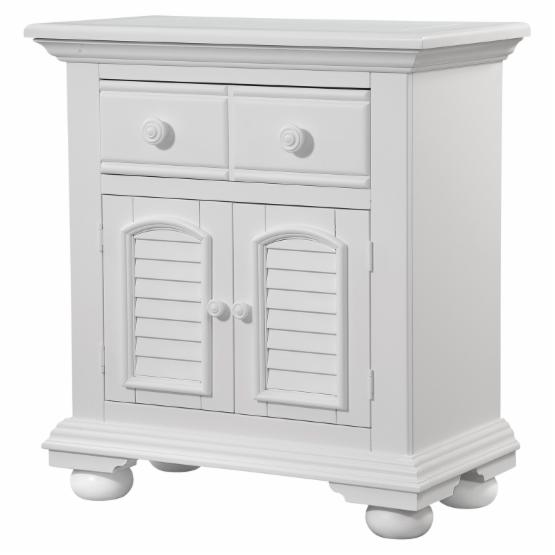 American Woodcrafters Cottage Traditions 1 Drawer Nightstand - Eggshell White