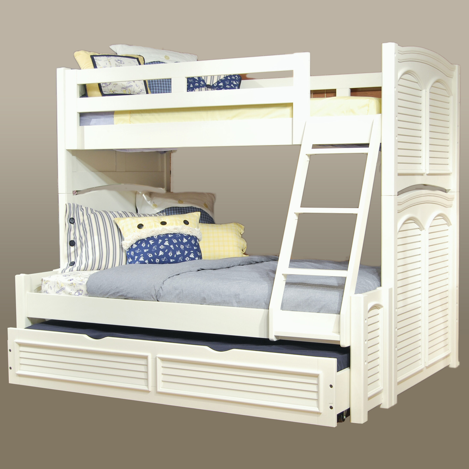 American Woodcrafters Cottage Traditions Twin Over Full Bunk Bed Eggshell White Hayneedle