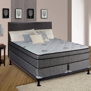 Continental Sleep Foam Encased 13 in. Eurotop SOFT Innerspring Mattress and Split Box Spring