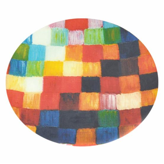 Border Concepts 18 in. Round Checkerboard Glass Plate
