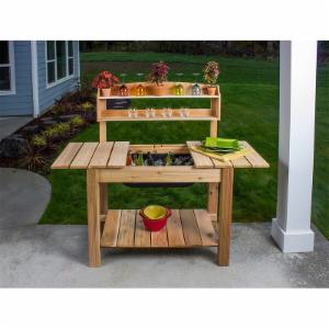 Phat Tommy Patio & Garden Classic Potting Bench with Optional Backshelf