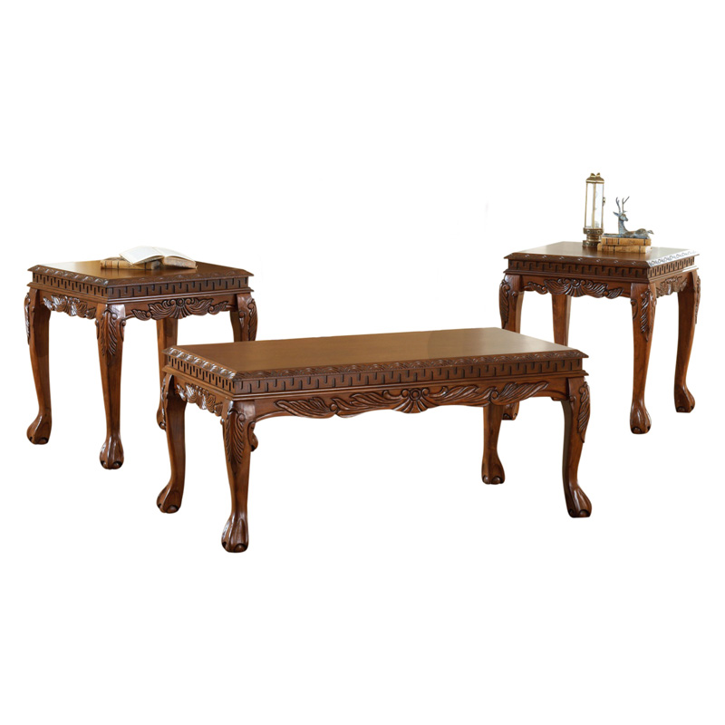 Furniture of America Winslow 3 Piece Coffee Table Set Dark