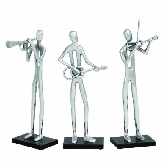 Woodland Imports 17H in. Modern Musician - Set of 3