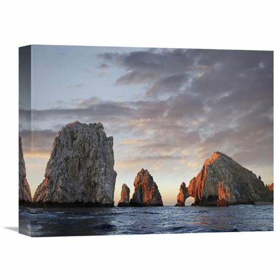 Global Gallery El Arco and Sea Stacks Cabo San Lucas Mexico Canvas Wall Art