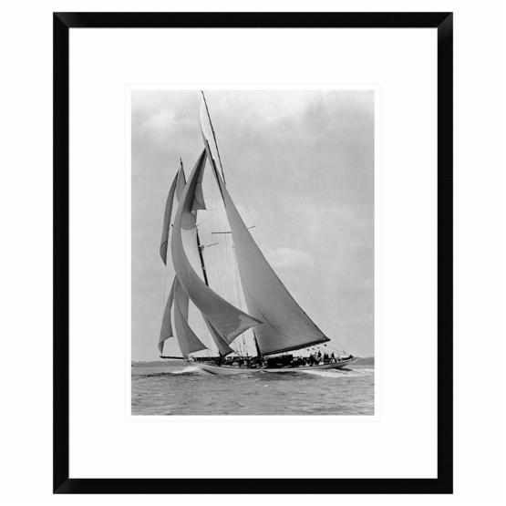 Global Gallery The Schooner Half Moon at Sail 1910s Framed Wall Art