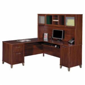 Bush Somerset L-Shaped Desk with Hutch