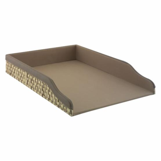 kathy ireland Office by Bush Furniture Volcano Dusk Grass Weave Letter Tray - Natural