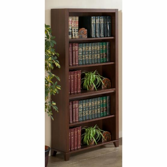 Achieve Bookcase with Adjustable Shelves - Sweet Cherry