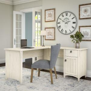 Bush Furniture Salinas L Shaped Desk with Storage