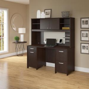 Office Connect Activate Double Pedestal Computer Desk and Hutch