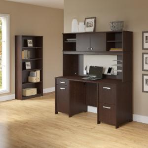 Office Connect Activate Computer Desk with Hutch and Bookcase