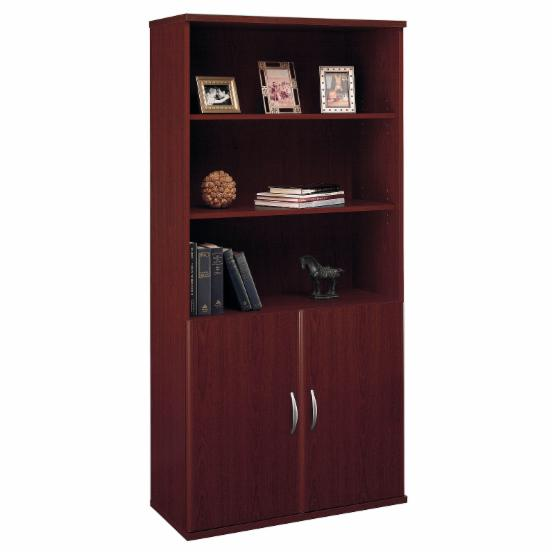 Bush Series C Double Bookcase with Doors