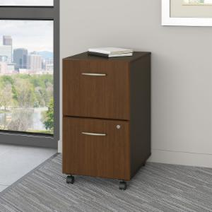 Bush Furniture A Two Drawer File in Sienna Walnut and Bronze