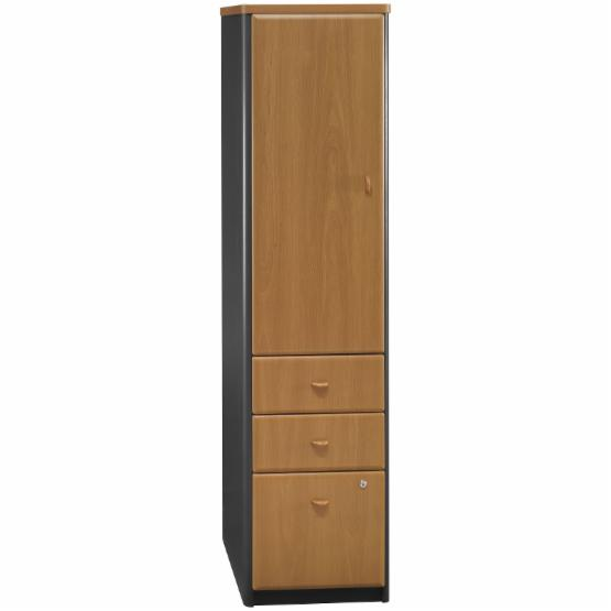 Bush Series A Vertical Locker Bookcase - Natural Cherry and Slate - Do Not Use