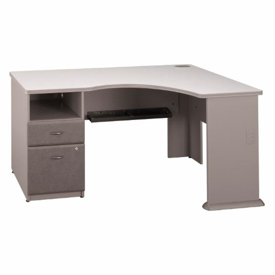 Bush Series A Expandable Corner Computer Desk - Pewter