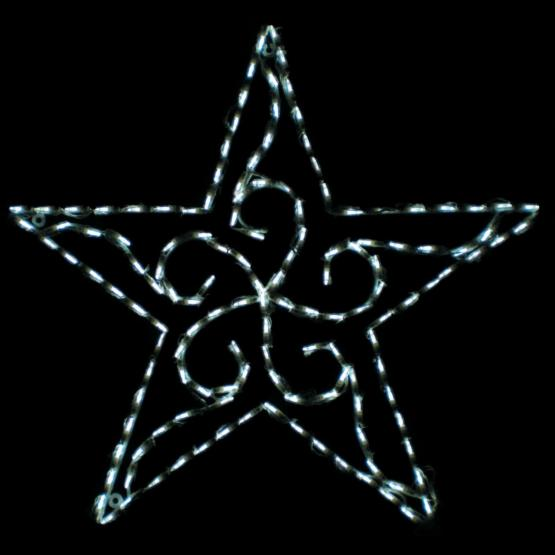 35 in. Outdoor LED Scroll Star Display - 140 Bulbs