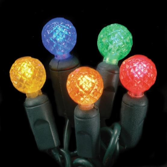 Commercial 70 ct. Multi-Color Raspberry LED Light Set with Green Wire 6 in. Spacing (Case)
