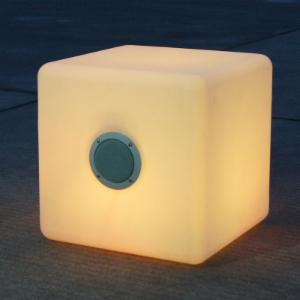 Bellini Home and Gardens 16 in. LED Cube with Bluetooth Speaker