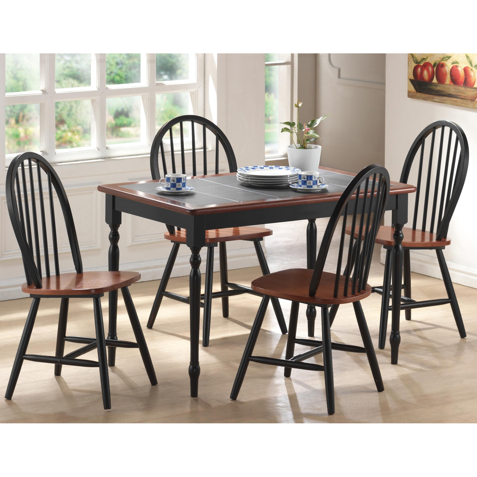 farmhousediningsetwithbench kitchen table chairs Boraam Farmhouse 6 Piece Dining Set with Bench Dining Table Sets at Hayneedle
