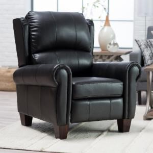 Barcalounger Charleston Leather  Push Back Recliner - Black