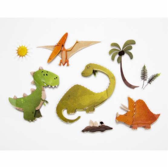 Home décor Line Dinosaurs 3D Wall Decal